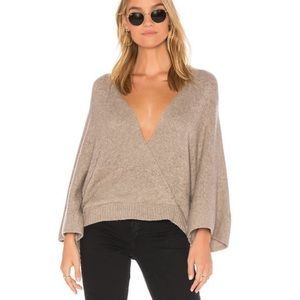 Ella Moss Open Back Wrap Front Pullover NWT $175